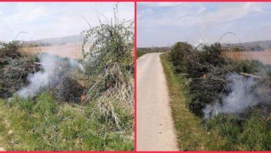 Photo of Poljoprivrednik kod sela Šuljam SPALJUJE ŽBUNJE I BILJKE DUŽ PUTA – policija i vatrogasci ODBILI da dođu!