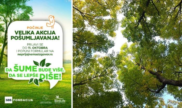 """Photo of Počinje VELIKA AKCIJA POŠUMLJAVANJA: """"Da šume bude više, da se lepše diše!"""""""